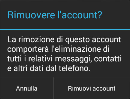 Come eliminare un account Google da uno smarphone o un tablet Android