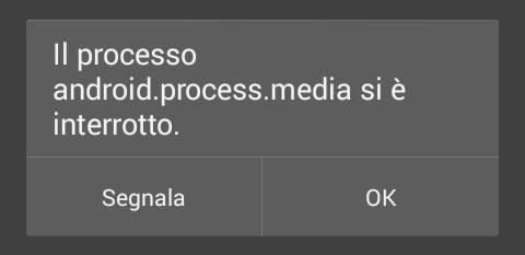 Il processo android.process.media si è interrotto, come risolverlo, guida e Fix