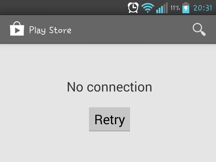 Google Play Store - No connection retry - how to solve it. guide and fix