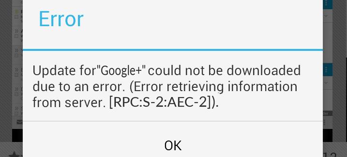 Google Play Error [RPC:S-2:AEC-2] Come risolverlo. Guida al Fix