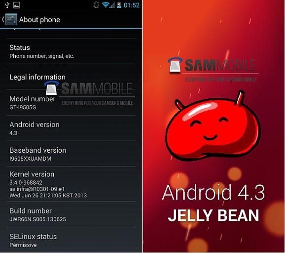 Android 4.3 appare sul Galaxy S4 Google Edition, previsto il rilascio in Luglio