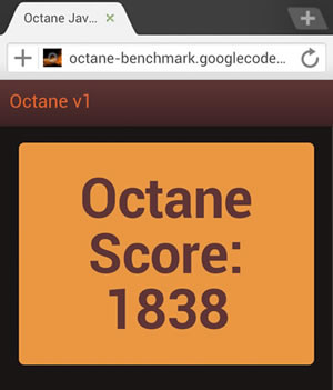 Benchmark Octane Dolphin Browser