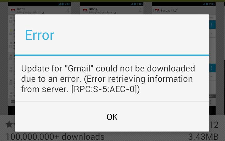 Google Play Error [RPC:S-5:AEC-0] come risolverlo, guida e Fix