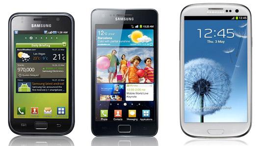 La Serie Samsung Galaxy S (S, S2, S3)