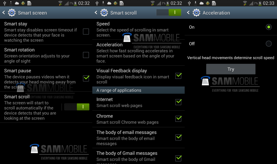 Galaxy S3. Smart Scroll e Smart Pause con Android 4.2