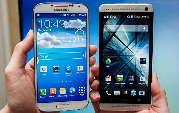 Samsung Galaxy S4 vs HTC One, la sfida si accende sui social network