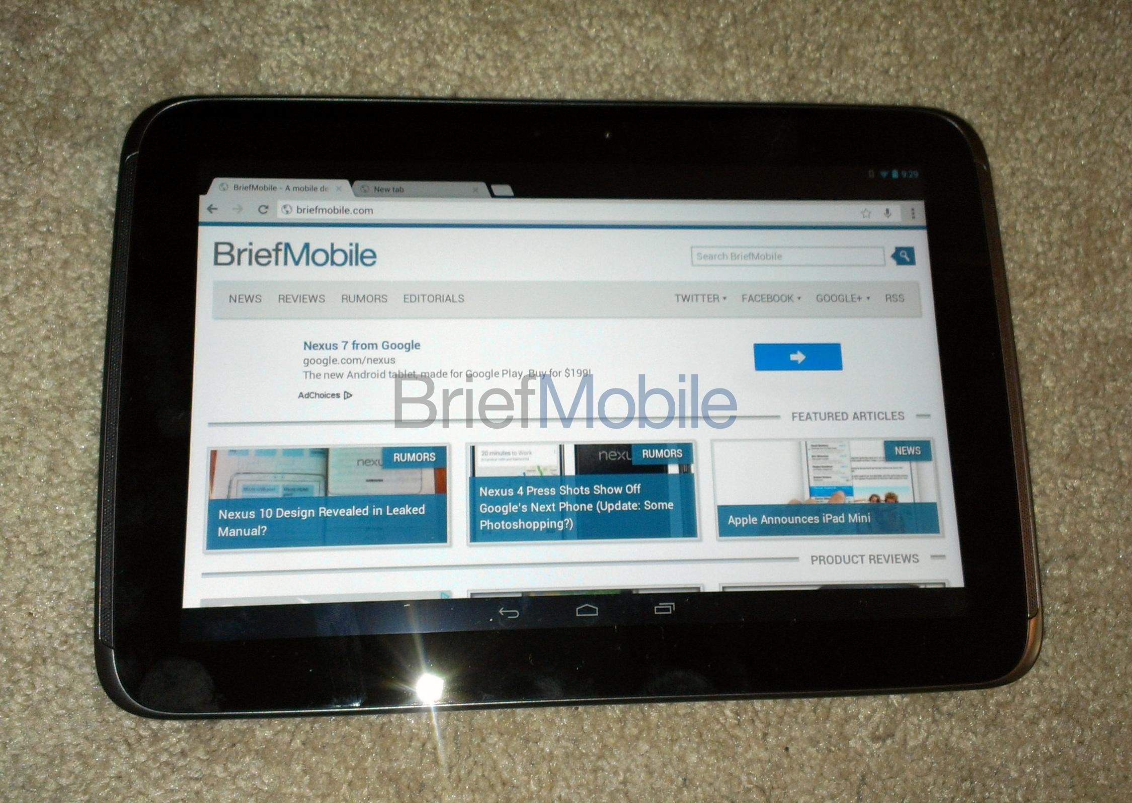 Nexus 10, svelato in anteprima il nuovo tablet 10 pollici di Google