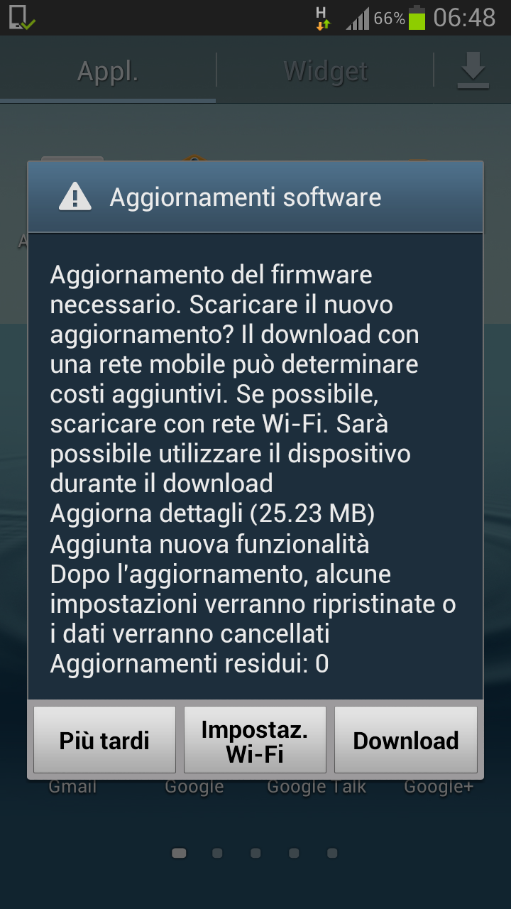 Galaxy S3, nuovo minor update per i brandizzati Vodafone