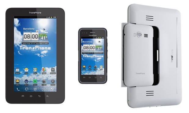 TransPhone, modulare smartphone/tablet, ma il Padphone 2 è ancora distante