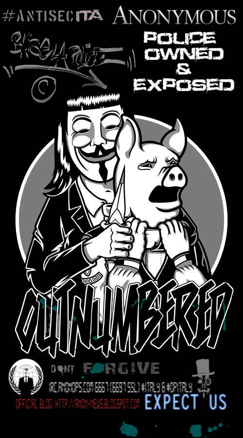 Anonymous attacca la Polizia Italiana rubando oltre 1 GB di dati