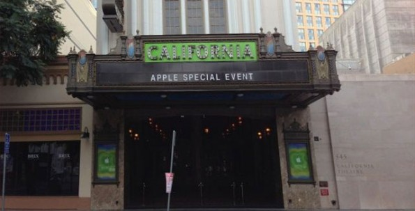 Il California Theatre si veste per l'Apple Special Event di domani