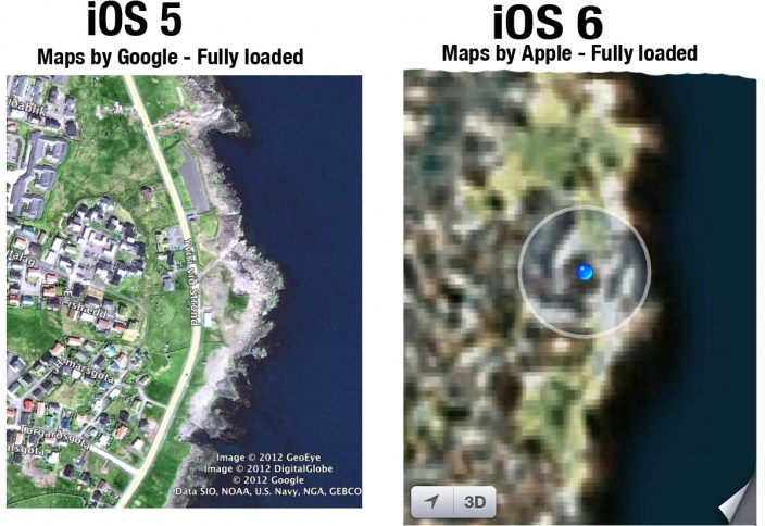 Apple si scusa per le Mappe inefficienti