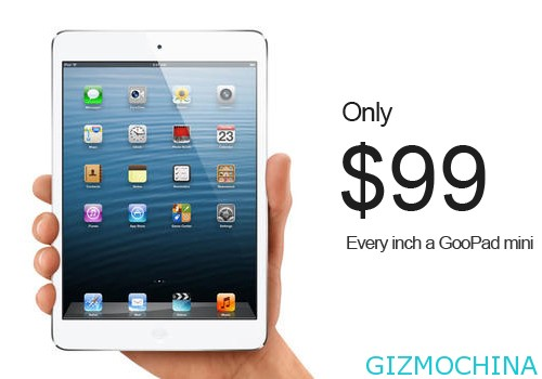 GooPad mini, il clone del iPad mini con Jelly Bean a soli 99$