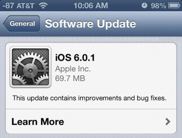 iOS 6 arriva il primo aggiornamento, descrizione e link per il download