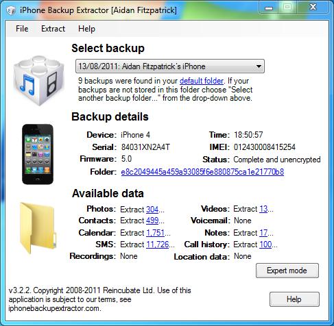 Come recuperare un file dal backup di un iPhone, iPad o iPod