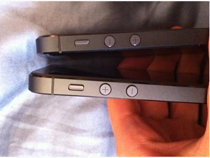 Alcuni iPhone 5 escono dalla catena di montaggio con i tasti del volume invertiti