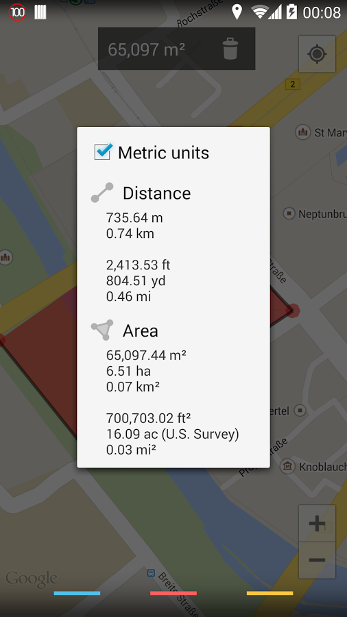 Maps Measure, Come misurare distanze ed aree su Google Maps