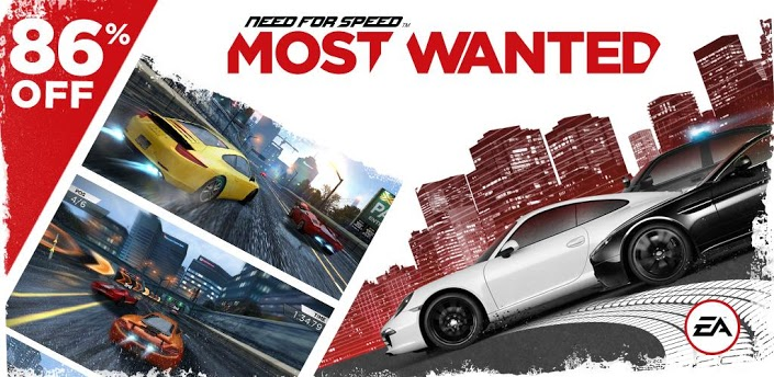 Need For Speed Most Wanted a soli 0.91€ su Google Play Store