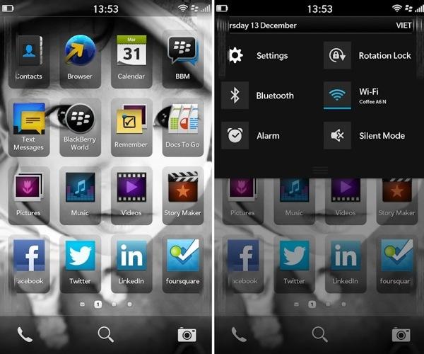 BlackBerry 10, trapelano alcune immagini dell'interfaccia utente