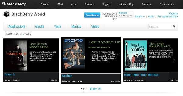 BlackBerry World, si rinnova il web store di RIM