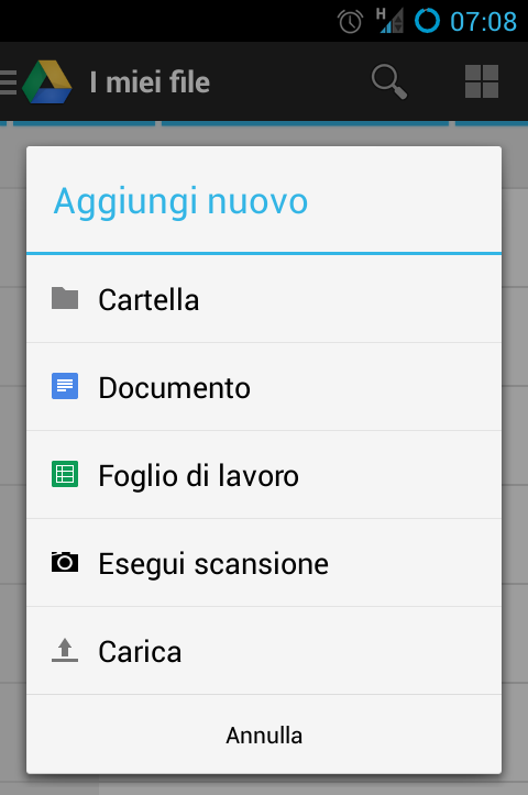 Google Drive, scansionare documenti e caricarli automaticamente sul cloud