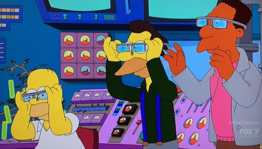 Google Glass, i Simpson ironizzano sugli occhia per la realtà aumentata