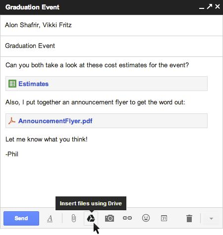 Gmail integra Google Drive, per allegati sino a 10GB