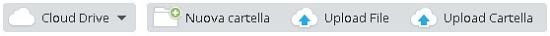 MEGA, Nuova cartella, Upload File, Upload Cartella