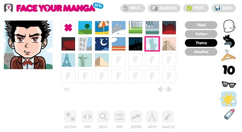 Face Your Manga - come creare un avatar manga