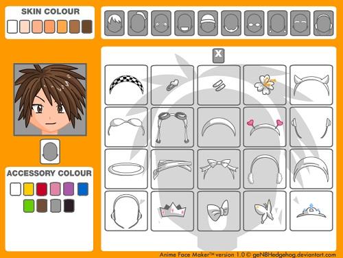 Avatar Face Maker - Come creare un avatar manga online