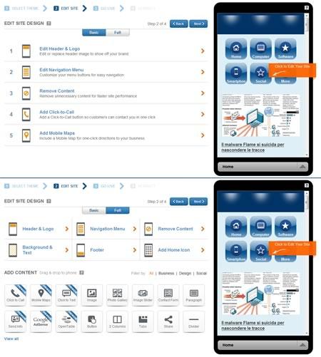 Come creare una versione mobile di un sito web con Duda Mobile