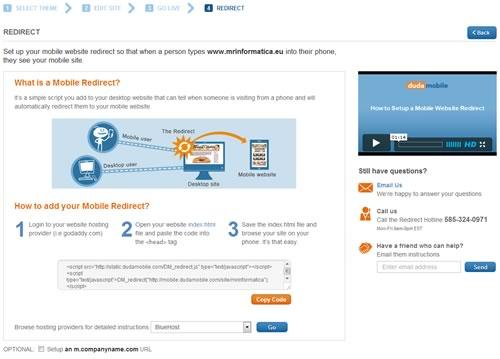Come creare un sito mobile con Duda Mobile