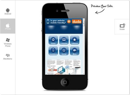 Creare un sito mobile con Dude Mobile