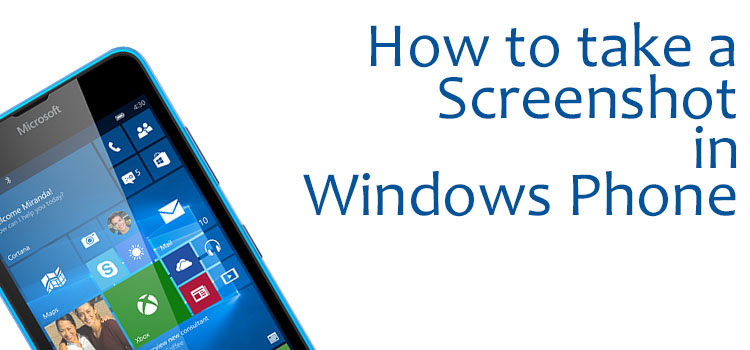 How to take a Screenshot in Windows Phone