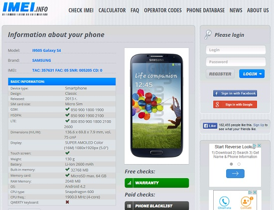 How to identify a smartphone original from a clone - Check IMEI