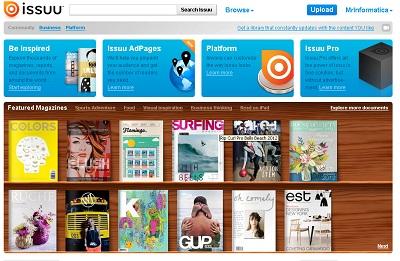 Convertire un file PDF in una rivista sfogliabile con ISSUU