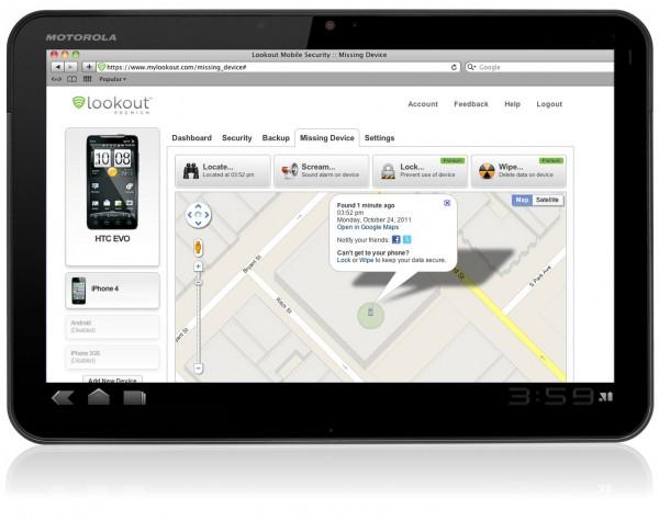 Come ritrovare il tuo smartphone smarrito con Lookout Mobile Security