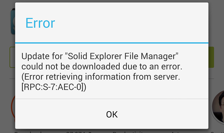 Google Play Error [RPC:S-7:AEC-0] How to solve it, Guide and Fix