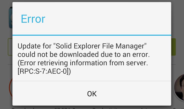 Google Play Error [RPC:S-7:AEC-0] come risolverlo, guida e Fix