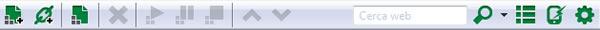 Come scaricare file in P2P con uTorrent - Barra degli strumenti