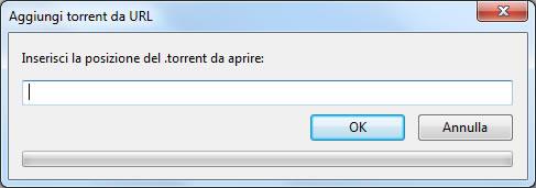 Aggiungi torrent da URL con uTorrent