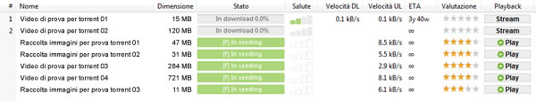 Coda di download di uTorrent