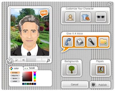Pannello per l'editing dell'assistente virtuale