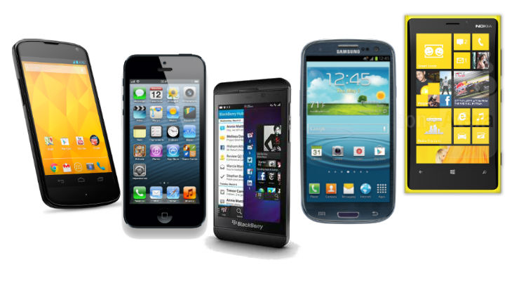 Confronto tecnico tra BlackBerry Z10, iPhone 5, Galaxy S3 e Lumia 920