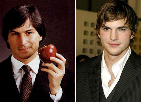 Confronto tra Steve Jobs e Ashton Kutcher che interpreterà Jobs in un film biografico