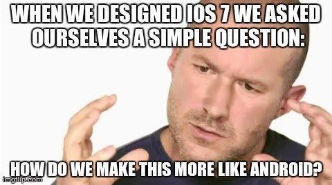 Apple come mi cadi su iOS 7? La novità è solo nel fatto che è tutto scopiazzato (Editoriale)