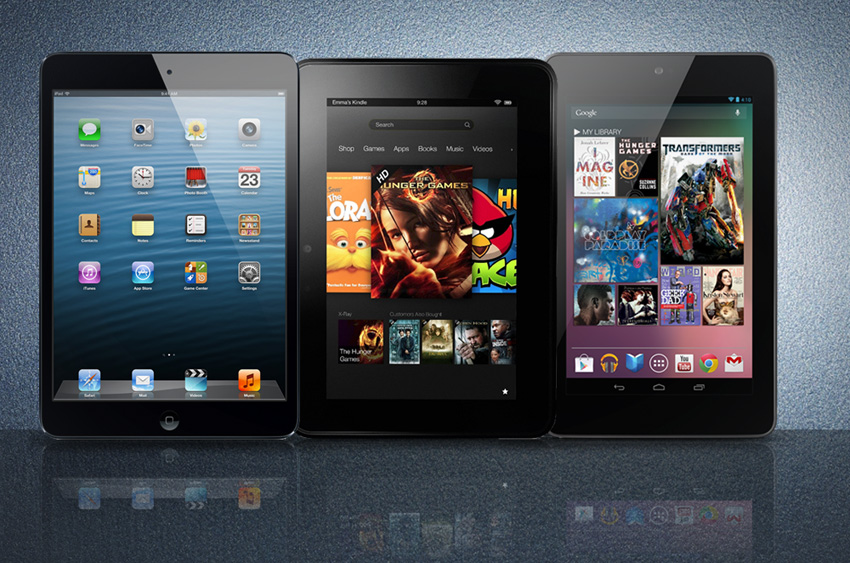 Confronto tra iPad Mini, Nexus 7, Kindle Fire HD e PlayBook