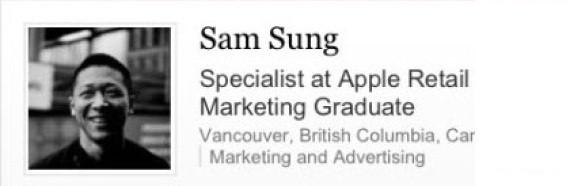 Lavora per Apple, ma il suo nome è Sam Sung