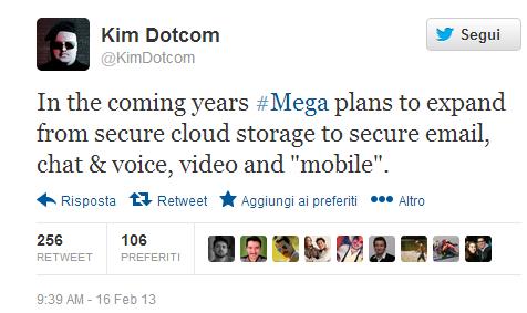 Kim Dotcom, twitter, MEGA