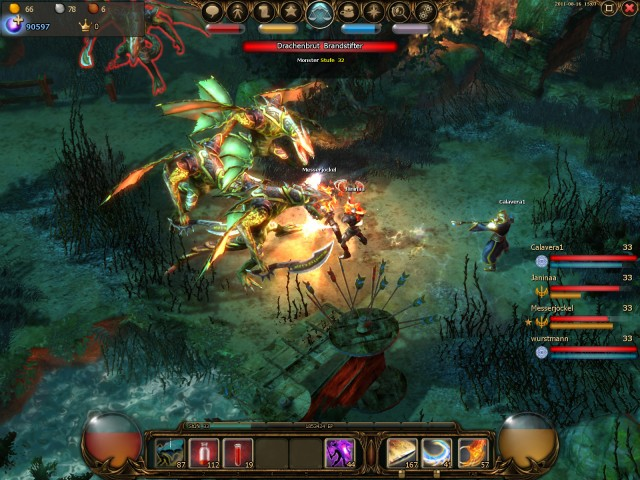 Drakensang Online browser game gratuito